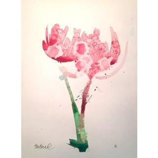 """""""Tulip in Pink"""" Original Watercolor Painting"""