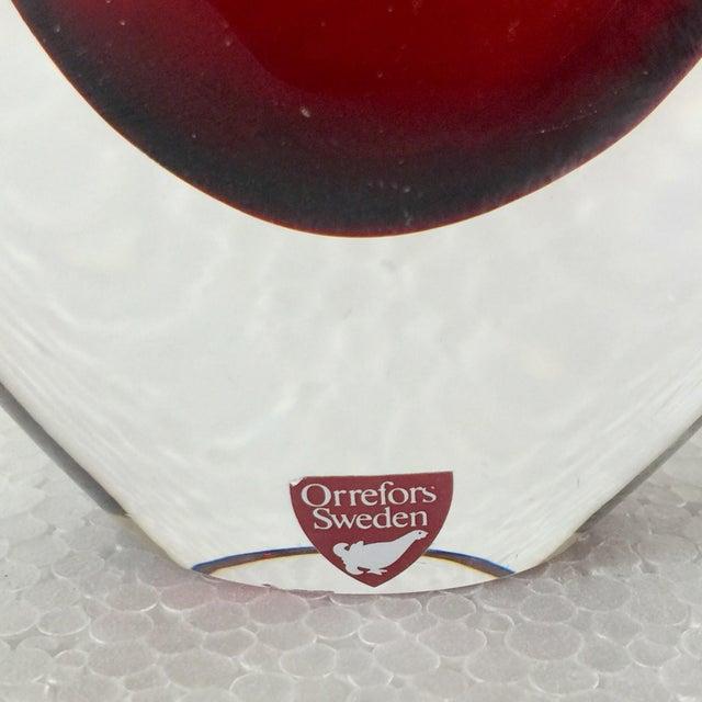 Orrefors Red Art Glass Vase - Image 4 of 5