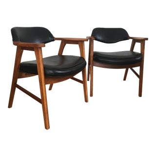 Mid-Century Modern Danish Lounge Chairs - A Pair