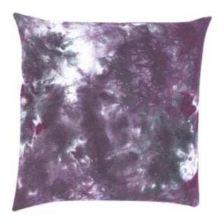 """Hand Dyed Purple Boho Marble Design Pillow Cover - 20"""" x 20"""""""
