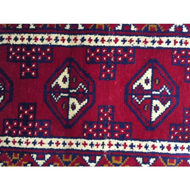Turkaman Handmade Persian Rug - 1′8″ × 2′11″ - Image 6 of 11