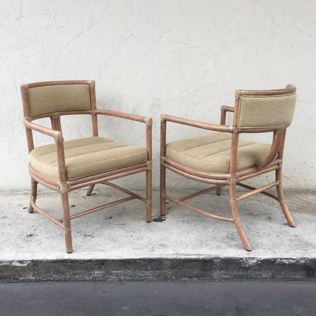 McGuire Manhattan Chairs - Set of 4 - Image 5 of 10