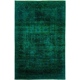 """Vibrance Over Dyed Hand Knotted Area Rug - 5'10"""" X 9'1"""""""