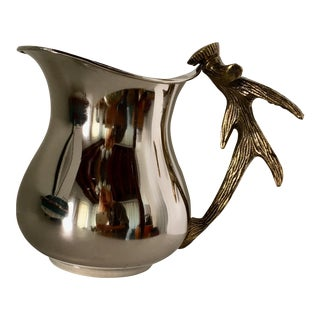 Silver & Brass Antler Pitcher