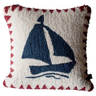Chandler 4 Corners Red Sailboat Pillow