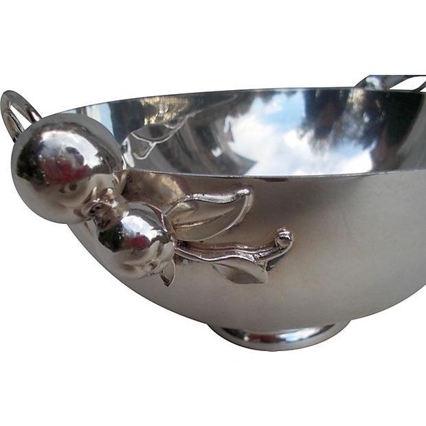 Image of Silver-Plate Bowl With Cherry Handles