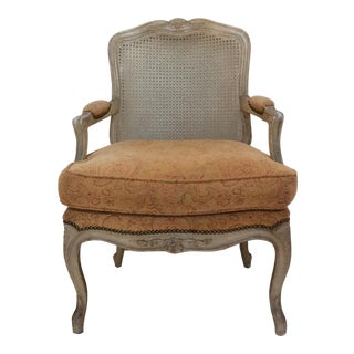 French Style Armchair With Caned Back