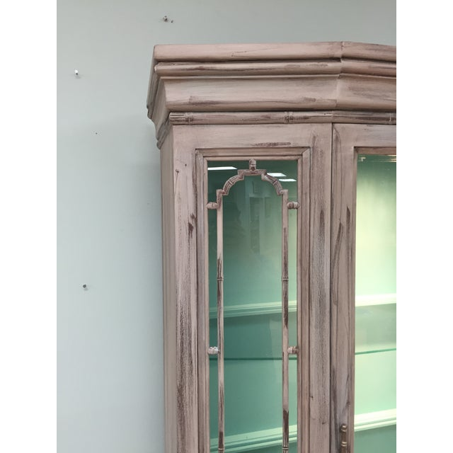 Gray Mid-Century China Cabinet Hutch - Image 4 of 11