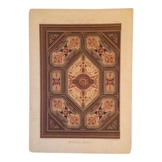 Vintage German Decorative Ceiling Print #3