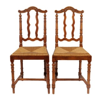 French Baroque Style Dining Chairs- A Pair