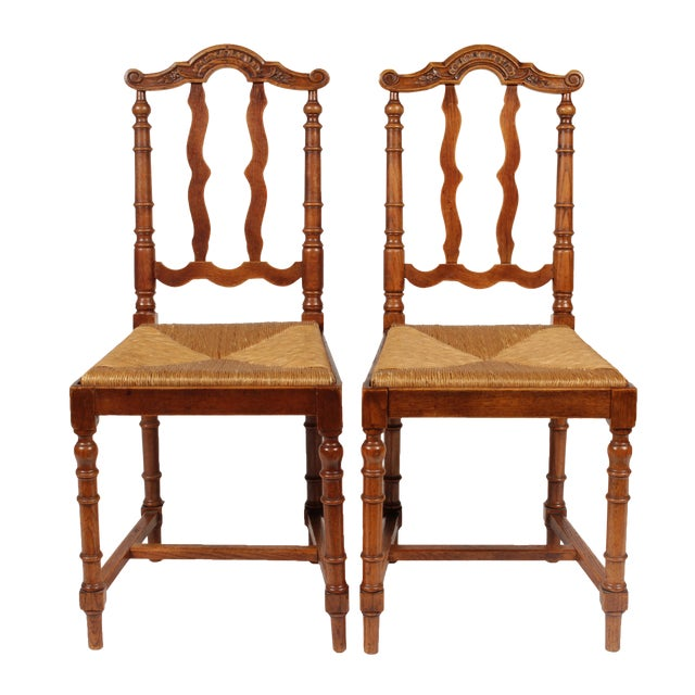 French baroque style dining chairs a pair chairish for Baroque style dining chairs
