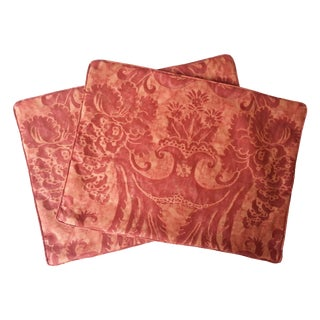 Italian Fortuny Pillow Covers - A Pair