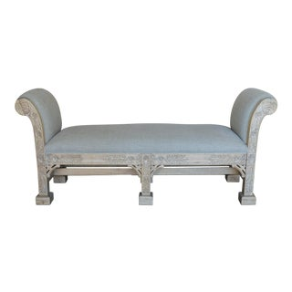 English Chinoiserie Style Bench