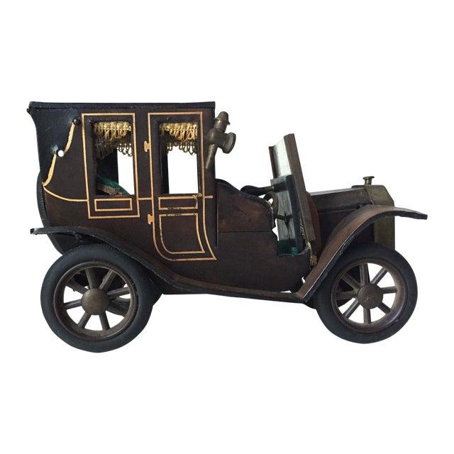 Lancia 1910 Leather Car Model - Image 1 of 5