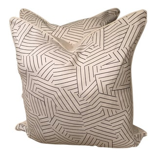 Deconstructed Stripe Miles Redd Pillows - A Pair