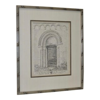 "1812 ""The South Doorway and the Corbel Table Round"" Etching by J.S. Colman"
