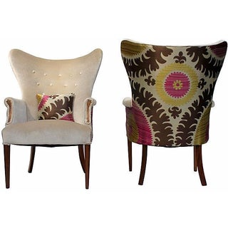 Vintage 1950s Wingback Chairs - A Pair