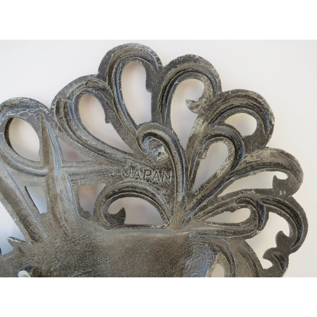 Brass Rooster Wall Hangings- A Pair - Image 6 of 9