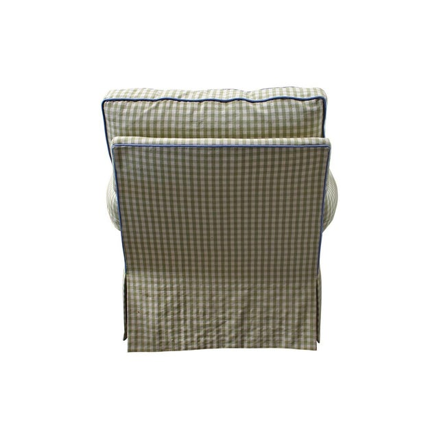 Image of Gingham Swivel Lounge Chair