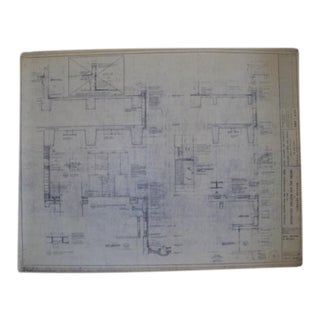 NYC Saarinen 1962 Lincoln Center Blueprint