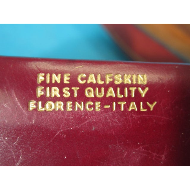 Italian Red Leather Card Box for 2 Decks - Image 6 of 6