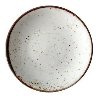 Vintage Brown Speckle Glazed Ceramic Plate