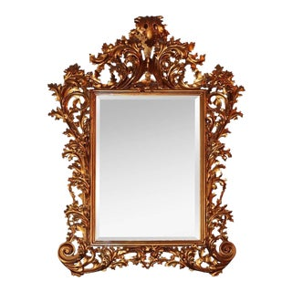 19th C. French Gilded Rococo Wall Mirror