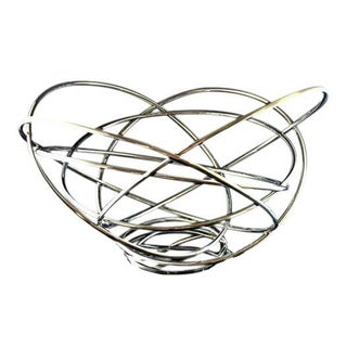 Atomic Silver Plated Towle Fruit Bowl Basket Centerpiece