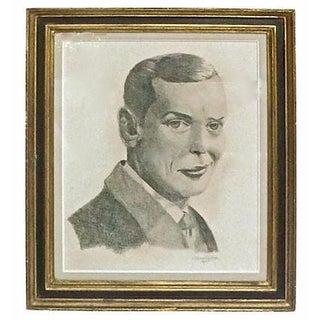Vintage Pencil Portrait Sketch of Dapper Young Man