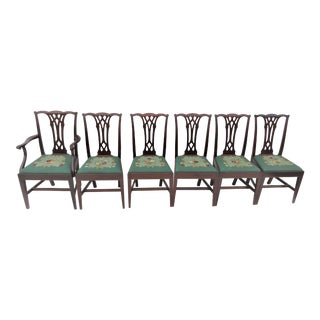 Potthast Chippendale Mahogany Dining Chairs - Set of 6