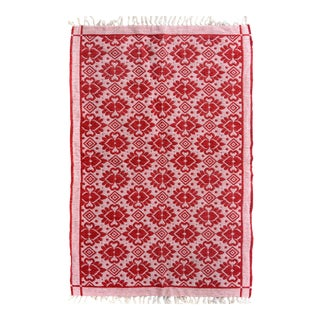 "Double-Sided Arya Basil Red/Pink Chenille Rug - 3'10 ""X 5'10"""