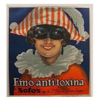 1930s Original Italian Poster Emo Anti-Toxina