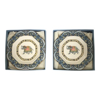 "Wedgwood ""Blue Elephant"" Trays - a Pair"