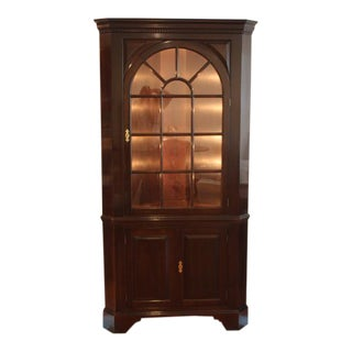 Stickley Mahogany Corner China Cabinet