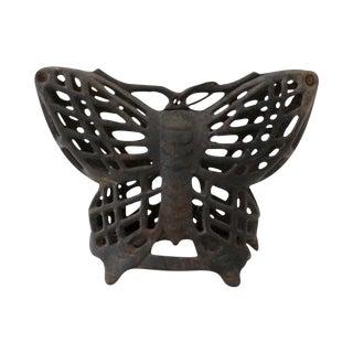 Mid-Century Iron Butterfly Lantern
