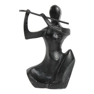 Mid-Late 20th Century Bronze Figure Sculpture