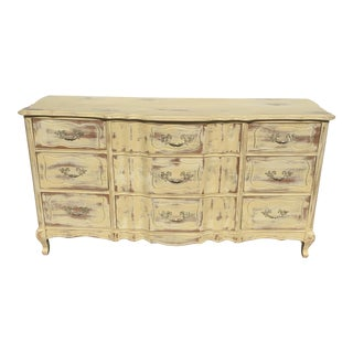 French Provincial Style Distressed Dresser