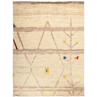 """Moroccan Beni Ourain Hand Knotted Area Rug - 5' 2"""" X 6' 9"""""""