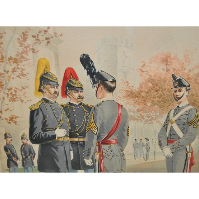 U.S. Military Academy Color Lithograph C.1888 - Image 5 of 10