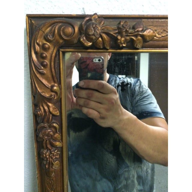 Early 1900s Ornate Hand Carved Mirror - Image 4 of 6