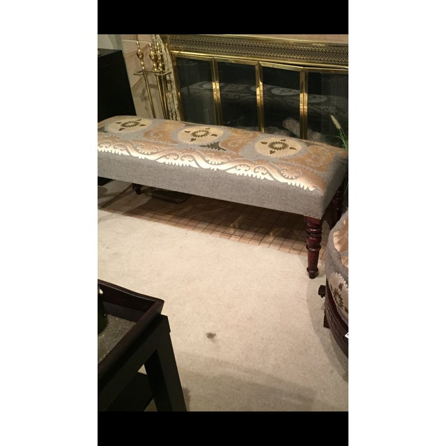 Persian Embroidered Bench - Image 3 of 5