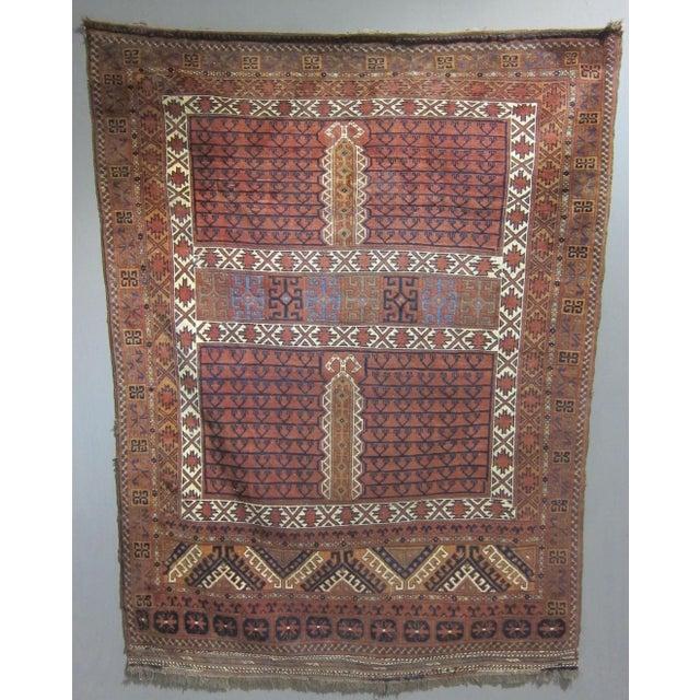 """Vintage Sarreid LTD Tribal Rug - 5' x 6'11"""" - Image 3 of 6"""
