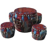 Image of Chinese Red Clay Round Garden Tea Set