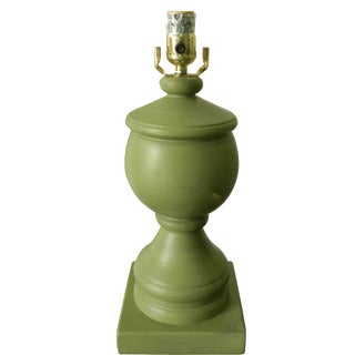 Painted Green Urn Lamp