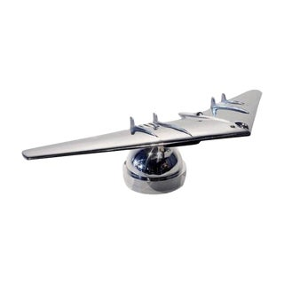 Polished Aluminum and Brass Flying Wing by Phil Miller