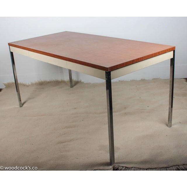 Steelcase Modern Minimalist Writing Desk - Image 8 of 9