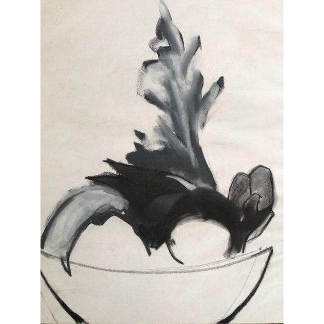 Mid-Century Charcoal Still Life Heidi Thaler - Image 1 of 4