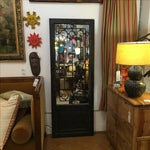 Image of Uttermost Teulada Distressed Black Floor Mirror