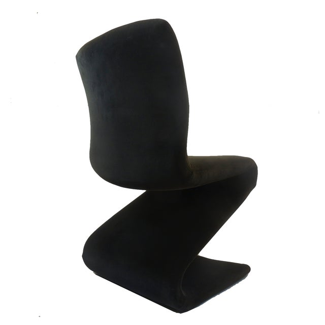 Panton Style Z Dining Chairs With Brass - Set of 6 - Image 4 of 8