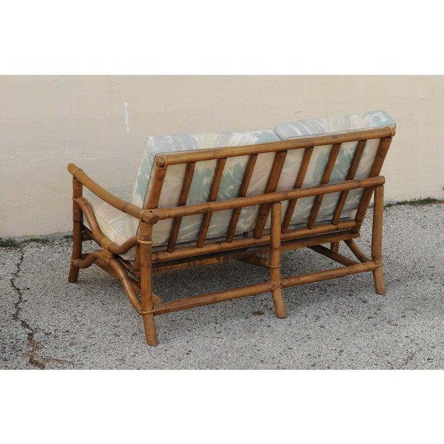 Mid Century Ficks Reed Rattan Tiki Sofa Set - Set of 5 - Image 6 of 11